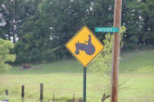 Tractor warning