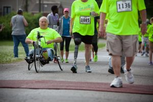 The finish line at the Achilles Hope & Possibility race is a place of inspiration.